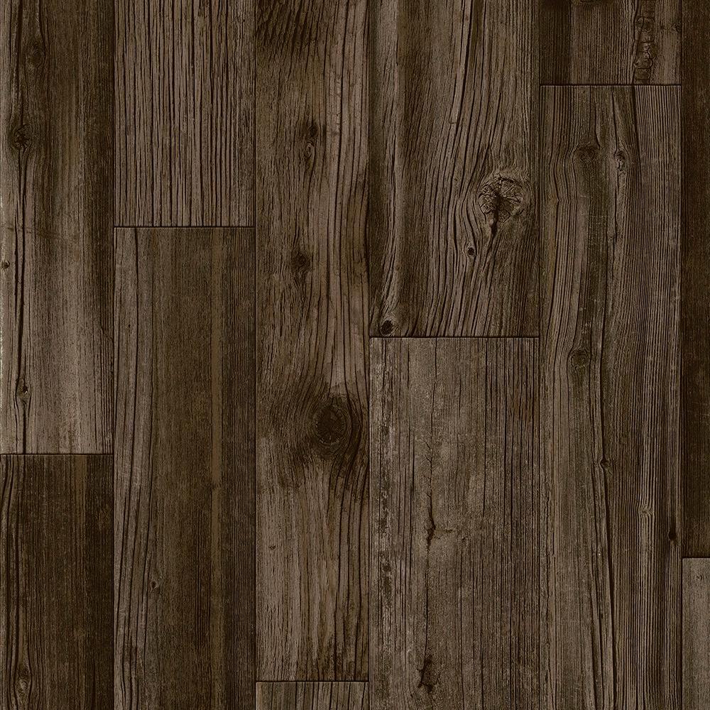 Take Home Sample - Dark Mocha Residential Vinyl Sheet Flooring - 6 in. x 9 in.