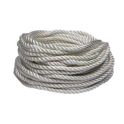 3/8 in. x 50 ft. White Nylon and Polyester Twisted Rope