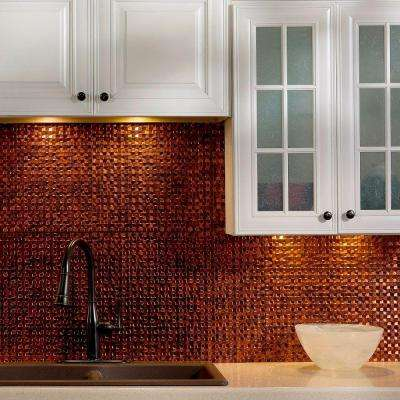 Terrain Pvc Decorative Tile Backsplash In Moonstone Copper