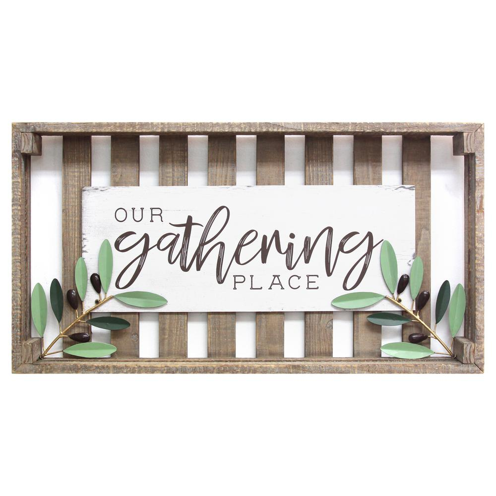 Gathering Place Crate Style Wall Decor