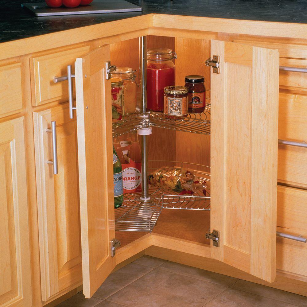 30 in. x 28 in. x 28 in. 2-Shelf Kidney Shaped
