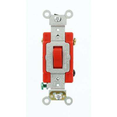 20 Amp Industrial Grade Heavy Duty 4-Way Toggle Switch, Red