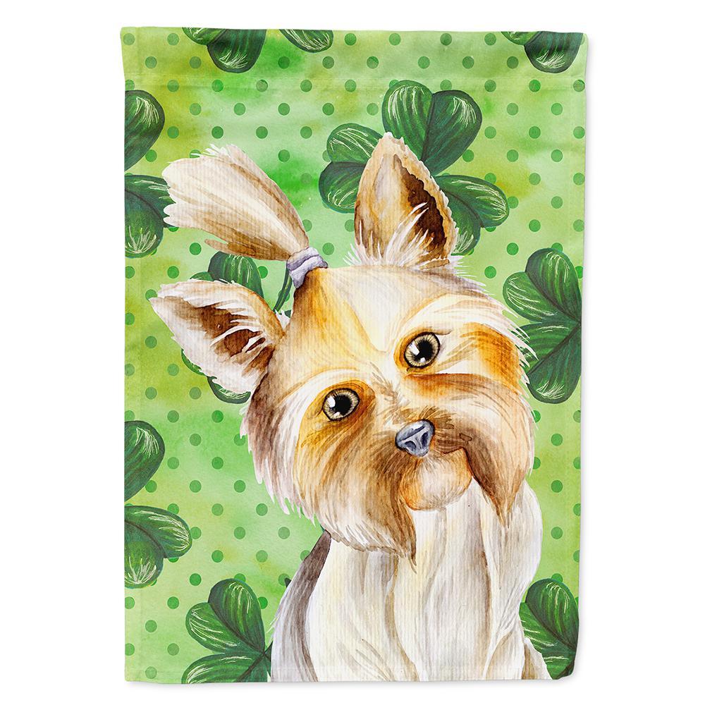 Caroline S Treasures 11 In X 15 1 2 In Polyester Yorkie Yorkshier Terrier Shamrocks 2 Sided 2 Ply Garden Flag Ck1396gf The Home Depot