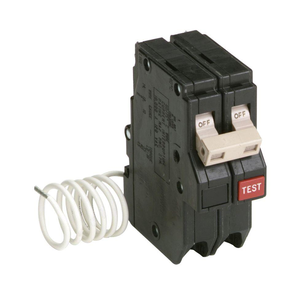 Murray 50 Amp Double Pole Type Mp Gt2 Gfci Circuit Breaker Us2 15amp Singlepole Mpcircuit Ch 2 Self Test Ground Fault