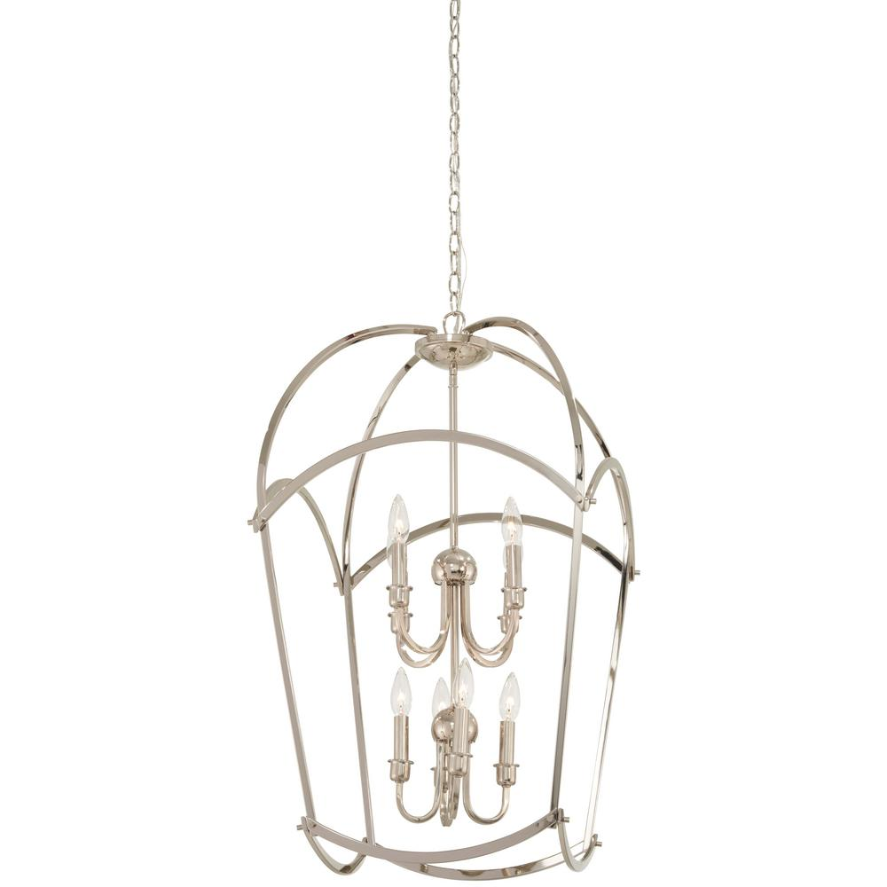 Jupiter's Canopy 8-Light Polished Nickel Pendant