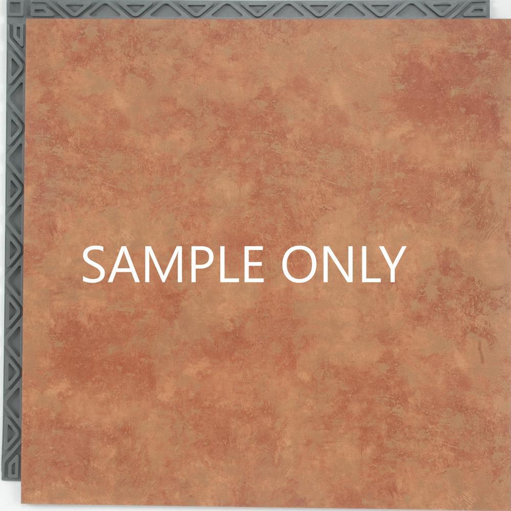 Take Home Sample - Terra Cotta Resilient Vinyl Plank Flooring - 18.5 in. x 9.25 in.