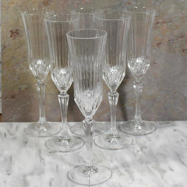 Lorren Home Trends Rcr Adagio Crystal Champagne Glass Set Of 6 259480 The Home Depot