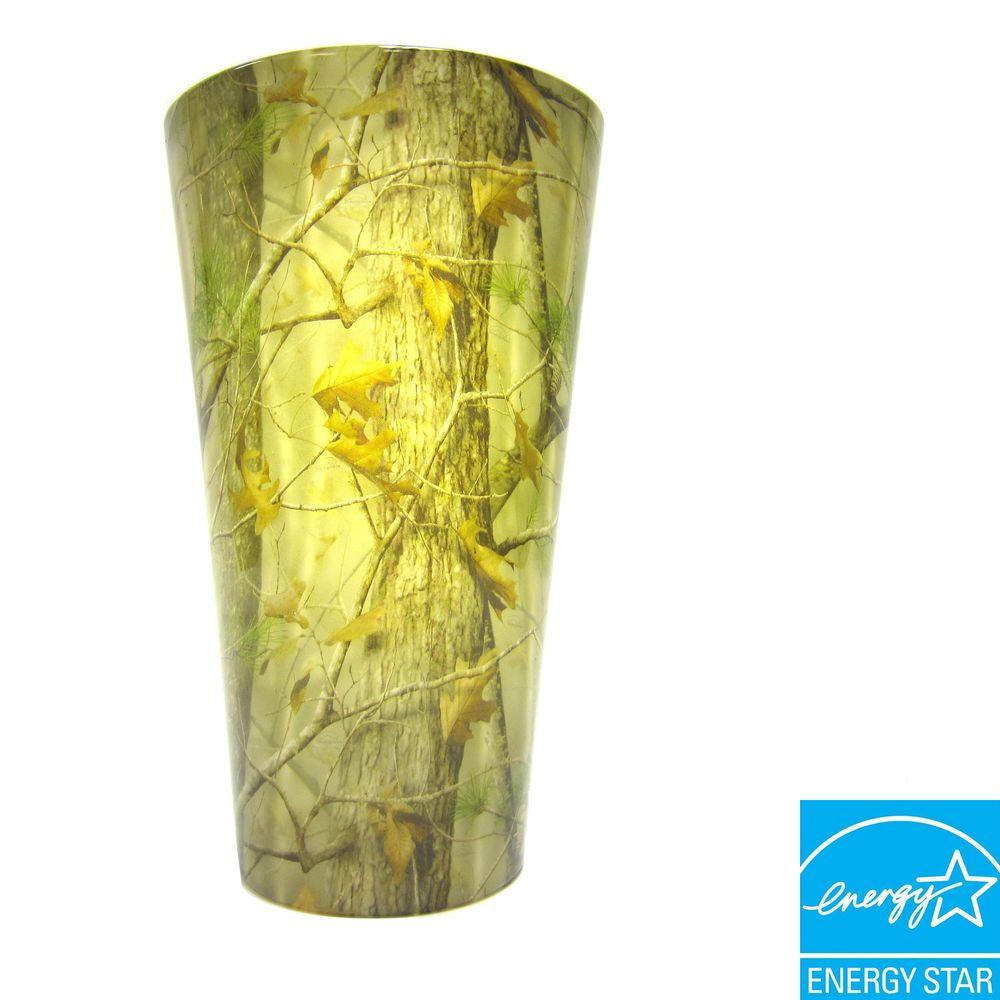 It's Exciting Lighting Vivid Series Wall Mount Indoor/Outdoor Camouflage Style Battery Operated 5 LED Sconce