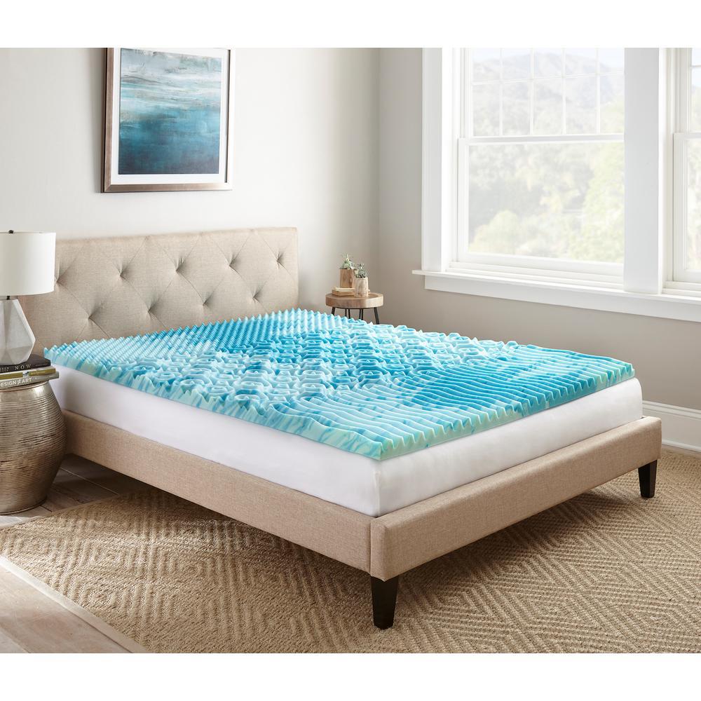 cooling mattress topper queen Broyhill 2 in. Queen Gellux Gel Memory Foam Mattress Topper  cooling mattress topper queen