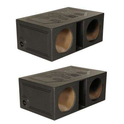 12 in. Dual Vented Ported Car Subwoofer Sub Box Enclosure (2-Pack)