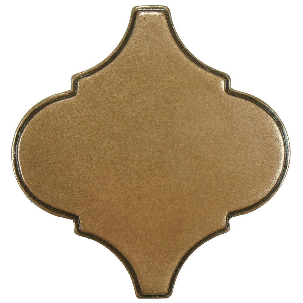 Merola Tile Contempo Lantern Insert Bronze 3 in. x 3 in. Metallic Wall Trim Tile