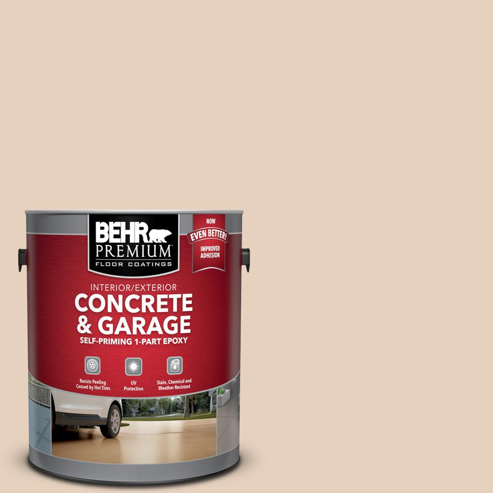 BEHR PREMIUM 1 gal. #PFC-11 Inviting Veranda Self-Priming 1-Part Epoxy Satin Interior/Exterior Concrete and Garage Floor Paint