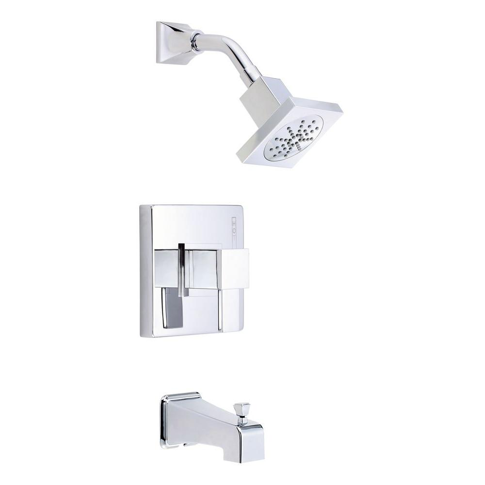 Danze Reef 1-Handle Pressure Balance Tub and Shower Faucet Trim Kit in Chrome (Valve Not Included)