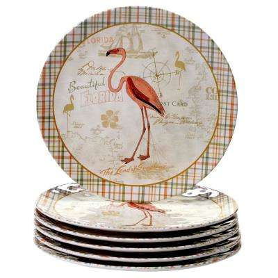 Floridian 6-Piece Green Dinner Plate Set