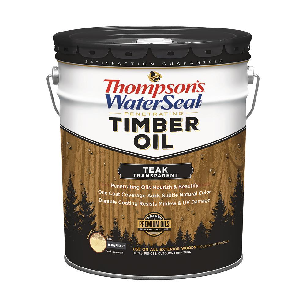 5 gal. Transparent Teak Penetrating Timber Oil Exterior