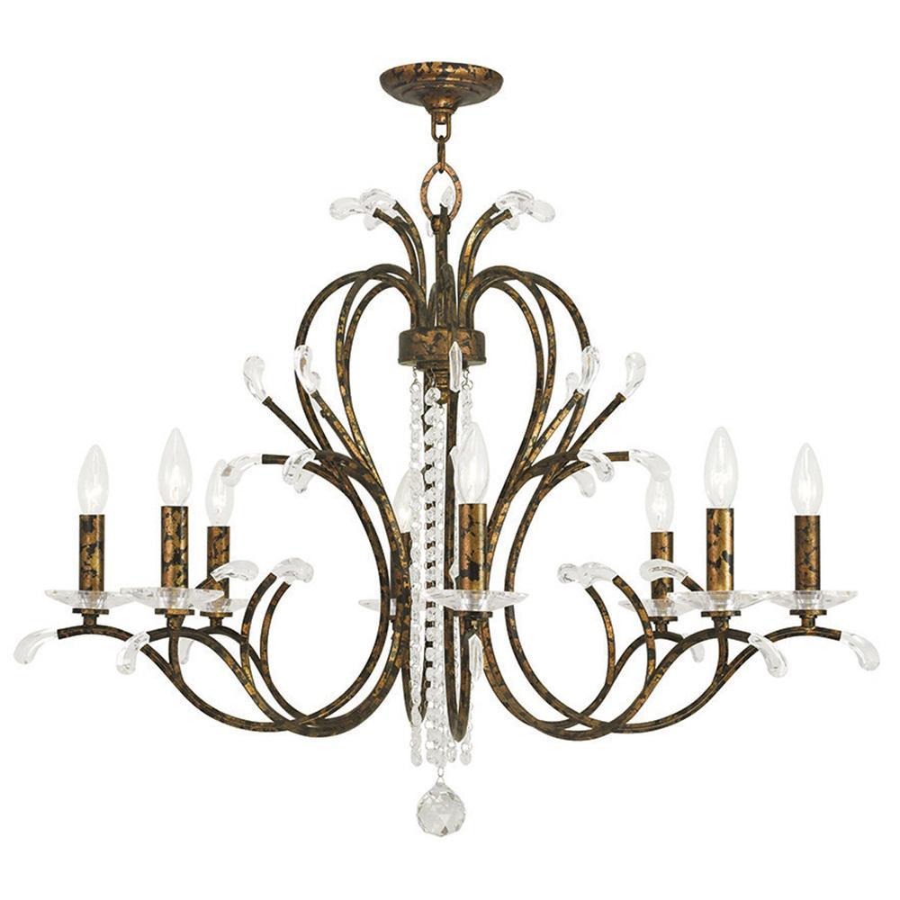 Venetian Bronze Chandelier: Livex Lighting Alpine 8-Light Bronze Island Chandelier