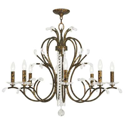 Serafina 8-Light Venetian Golden Bronze Chandelier