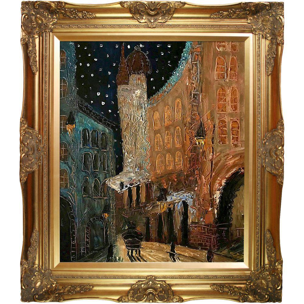ArtistBe Old Town Reproduction with Victorian Gold FrameCanvas Print, Multi-color was $792.01 now $386.4 (51.0% off)