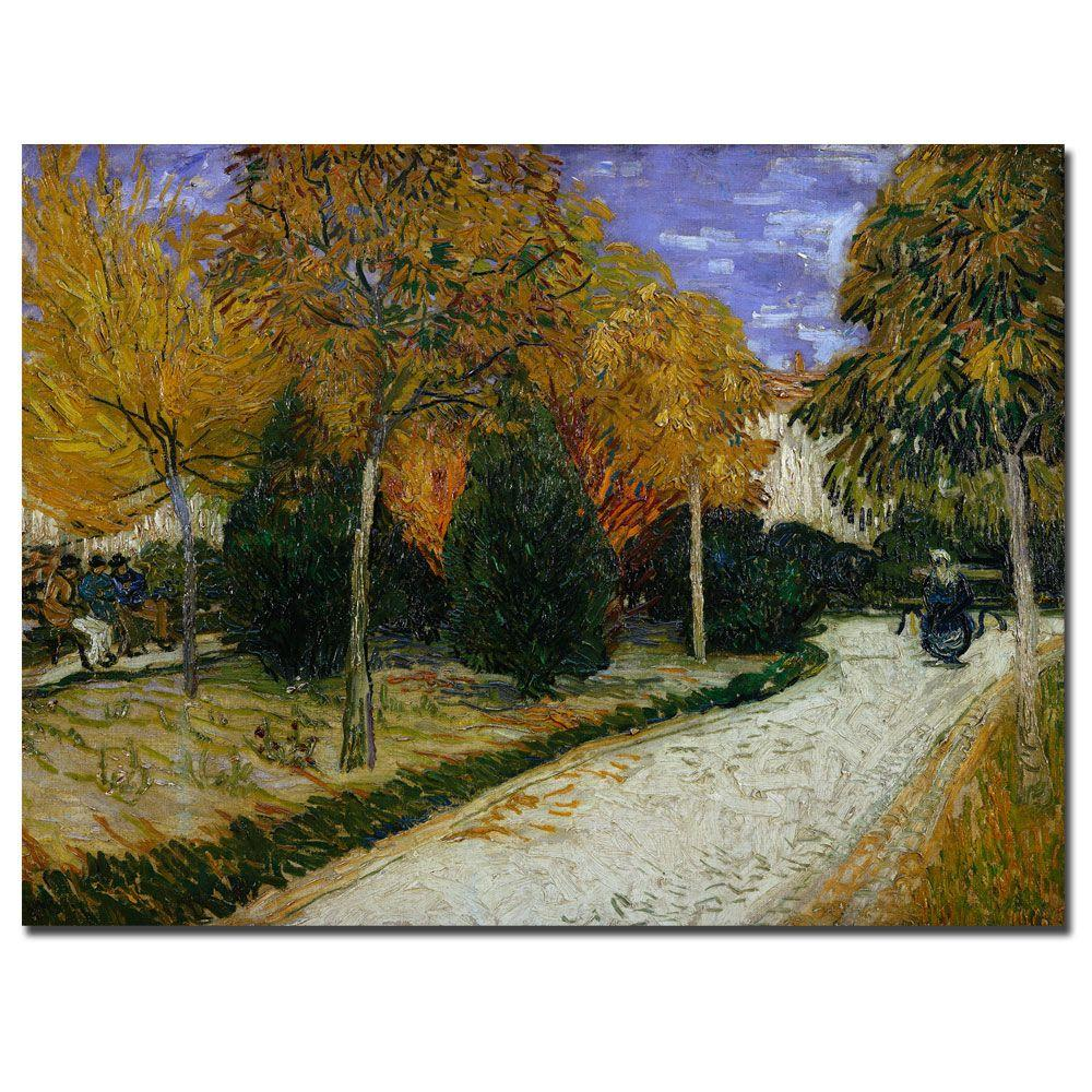 Trademark Fine Art 18 in. x 24 in. Path in the Park at Arles 1888 Canvas Art