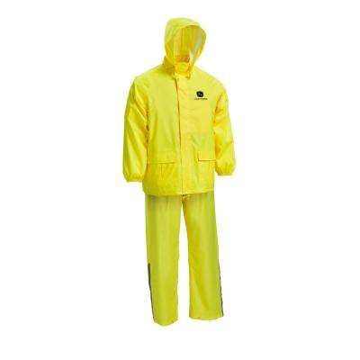 Size 2X-Large Yellow Safety Rain Suit (2-Piece)