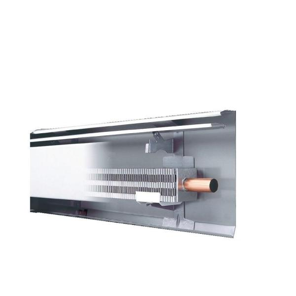 Fine/Line 30 3 ft. Hydronic Baseboard with Fully Assembled Element and Enclosure in Nu White