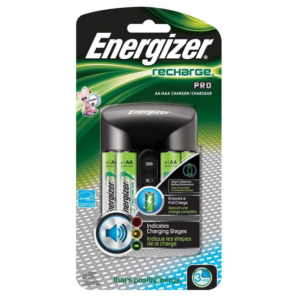 Energizer AA/AAA Pro Charger 1500mAh with 4 AA Battery Ce...