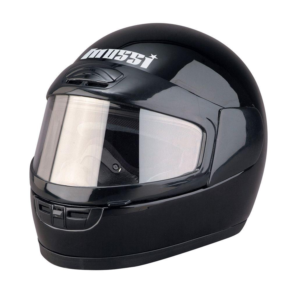 Medium Youth Black Full Face Snowmobile Helmet