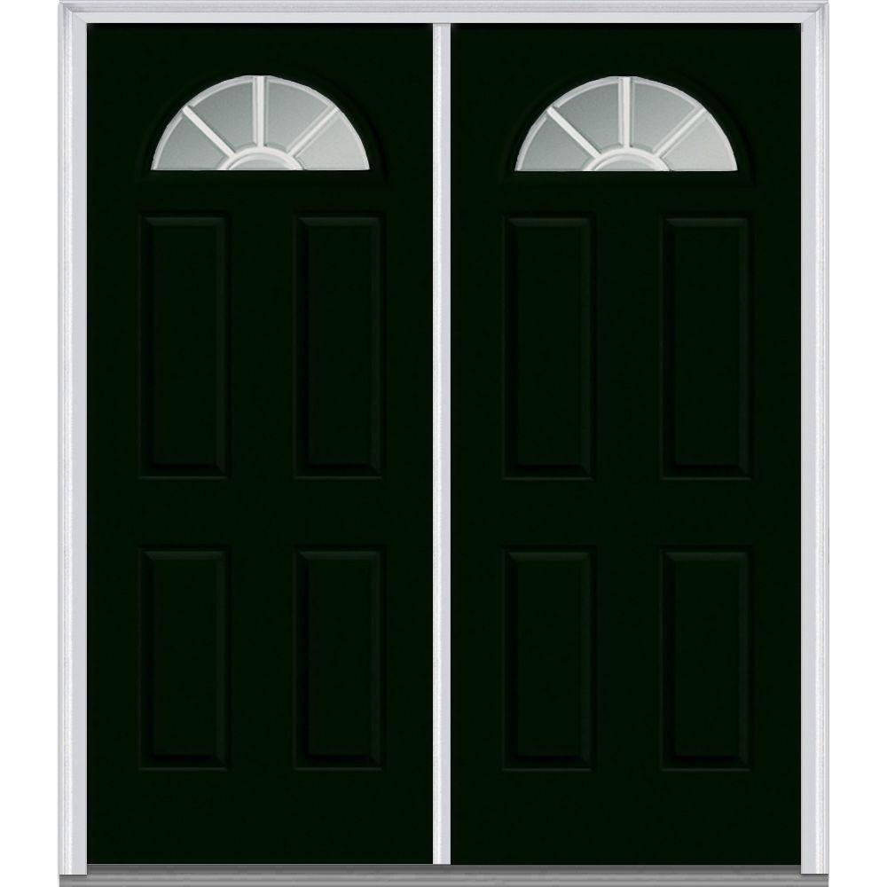 MMI Door 64 in. x 80 in. White Internal Grilles Right-Hand Inswing ...