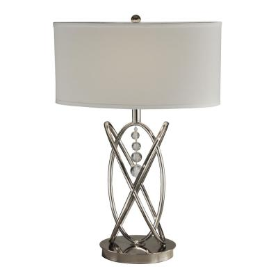 24.5 in. Polished Nickel Table Lamp with Fabric