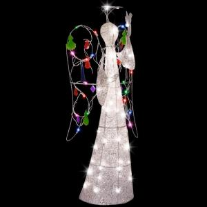 Click here to buy LightShow 4 ft. Sparkle Multi Color Jeweled Crystal Angel by LightShow.