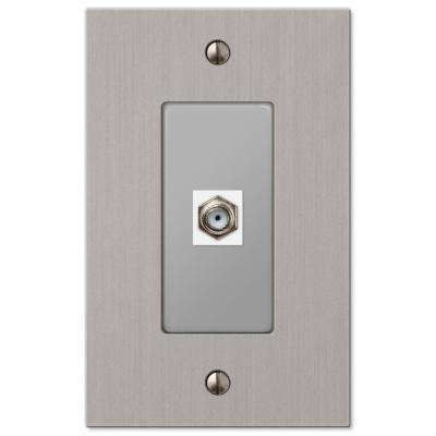 Elan 1 Coax Wall Plate - Brushed Nickel