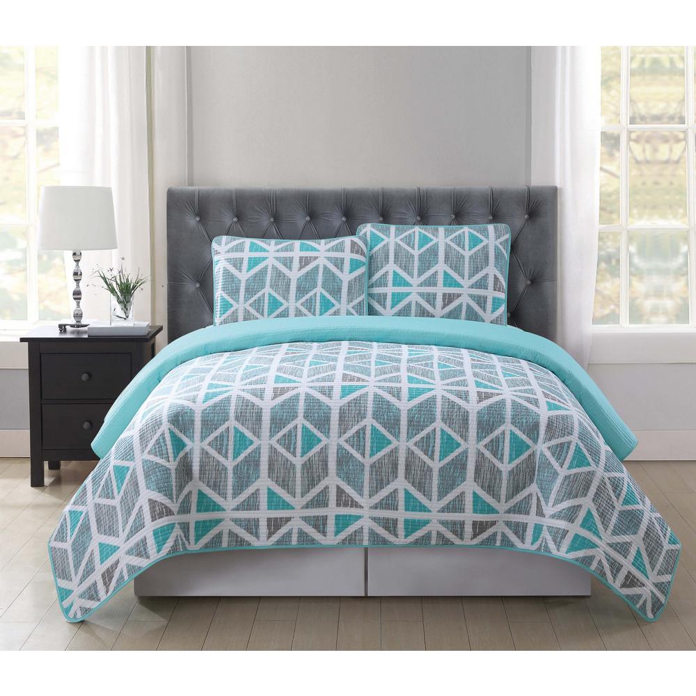 Malene Multi-Color King Quilt Set