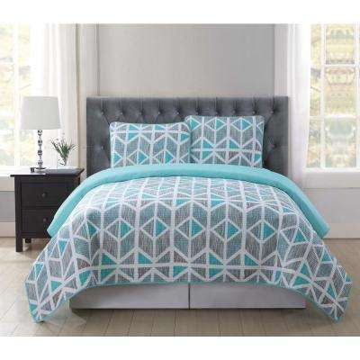 Malene 3-Piece Multiple Full and Queen Quilt with 2 Shams