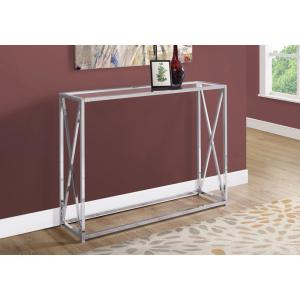 Chrome Metal Console Table