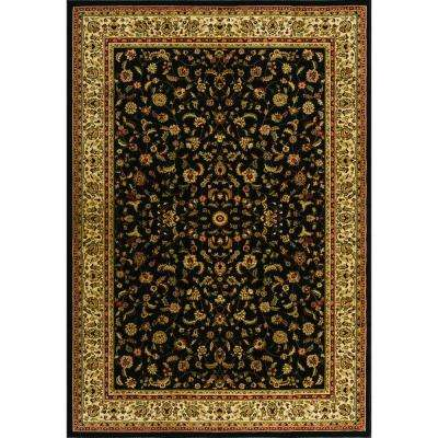 Sapphire Sarouk Black 5 ft. 3 in. x 7 ft. 7 in. Area Rug