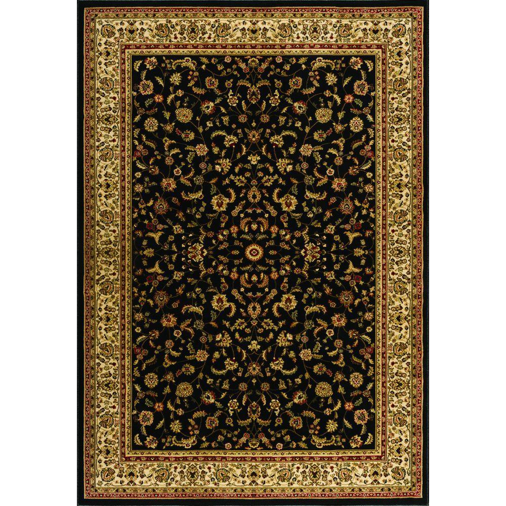 Sapphire Sarouk Black 8 ft. x 11 ft. Area Rug