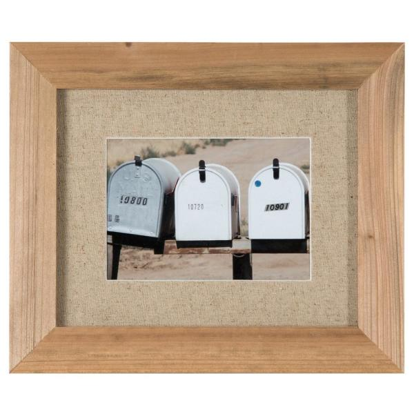 Gallery Perfect 11 in. x 14 in. Rustic Brown Collage Picture Frame Set