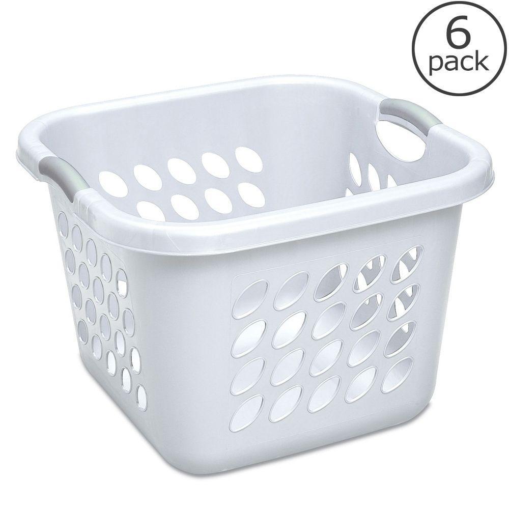 Sterilite 1.5 Bushel Ultra Square Laundry Basket (6-Pack)