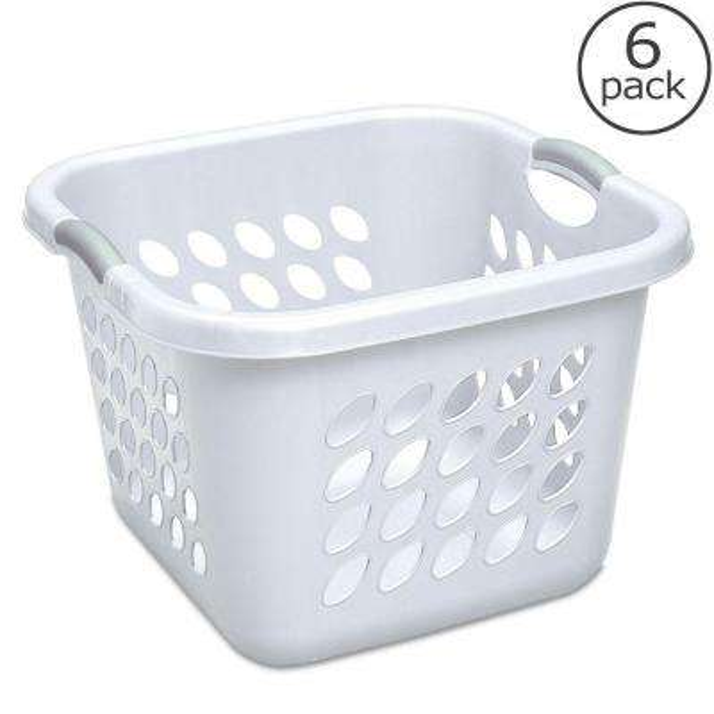 1.5 Bushel Ultra Square Laundry Basket (6-Pack)
