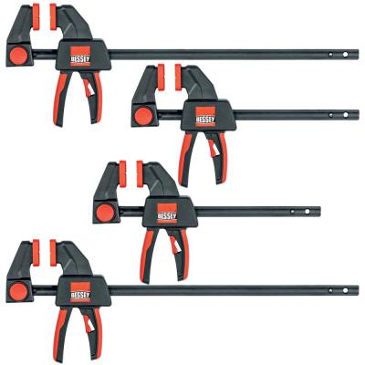 Trigger Clamp Set Containing 2 Each of EHKM06 and EHKM12 (4-Piece)