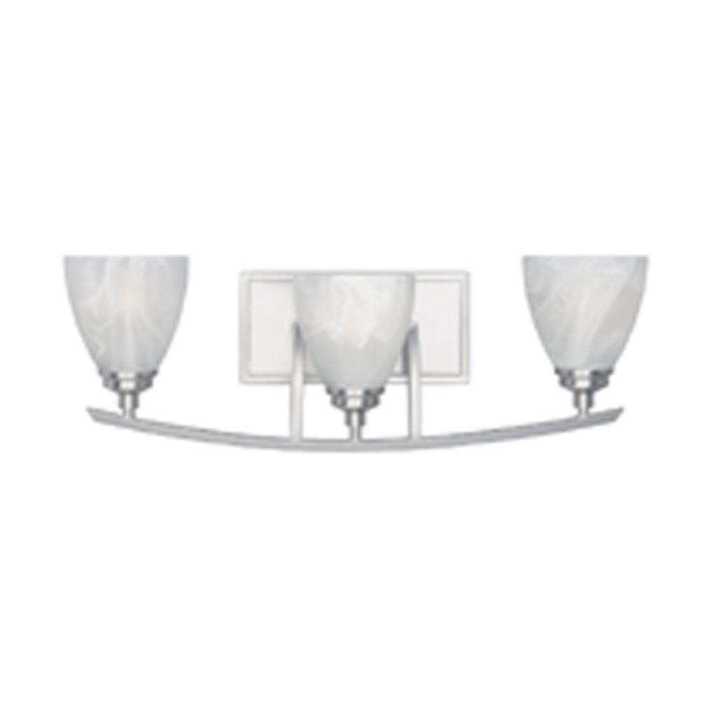Manhattan 3-Light Satin Platinum Wall Light