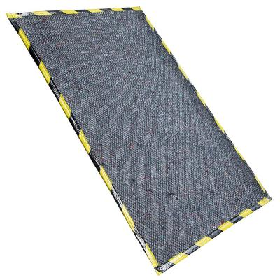 Gray 32 in. x 60 in. Equipment Mat with Grid