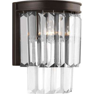 Glimmer Collection 2-Light Antique Bronze Wall Sconce