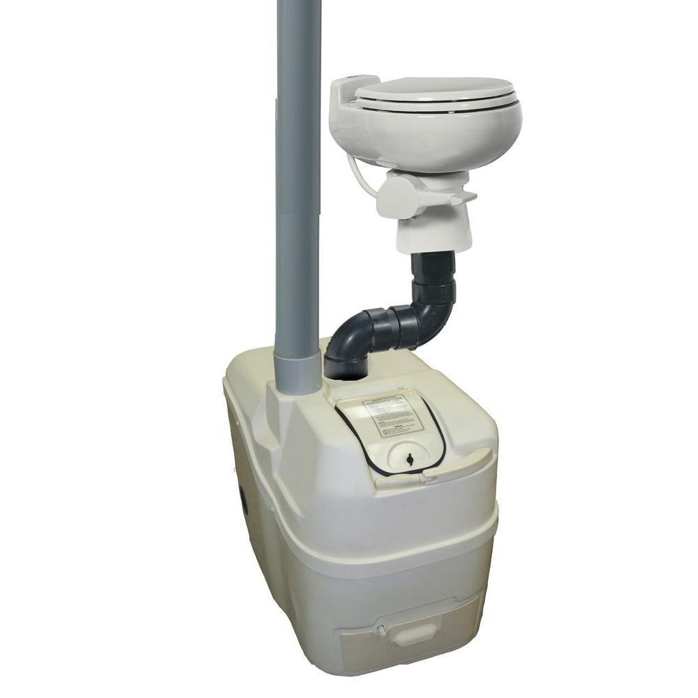 Sun-Mar Centrex 1000 Non-Electric Waterless Ultra Low Flush Central Composting Toilet System in Bone