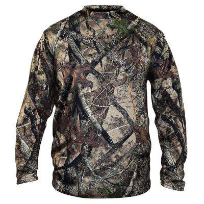 Men's Large Camouflage Long Sleeve Camo Cotton Tee