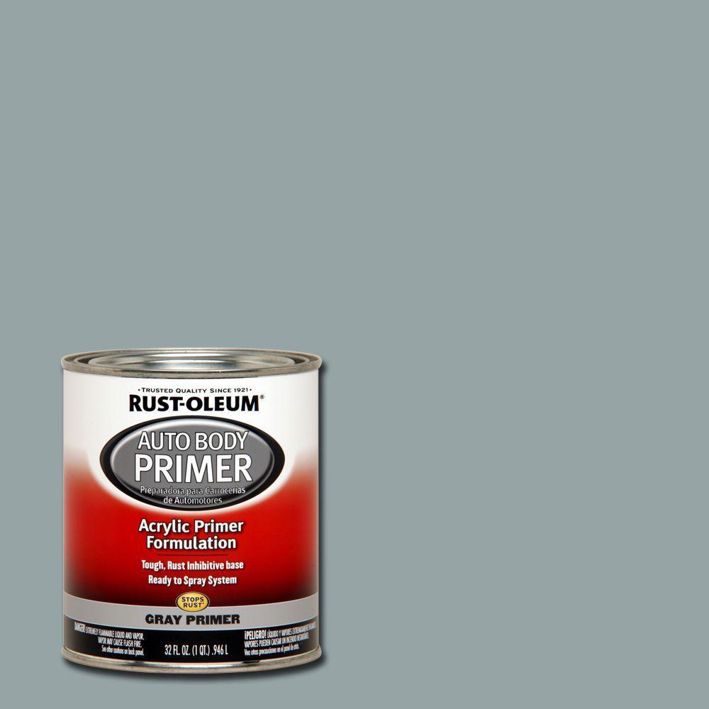 Rust-Oleum Automotive 1 qt. Gray Auto Body Acrylic Primer (2-Pack)