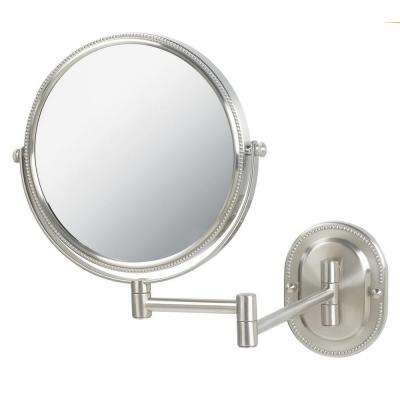 7X Wall Mount Makeup Mirror in Nickel