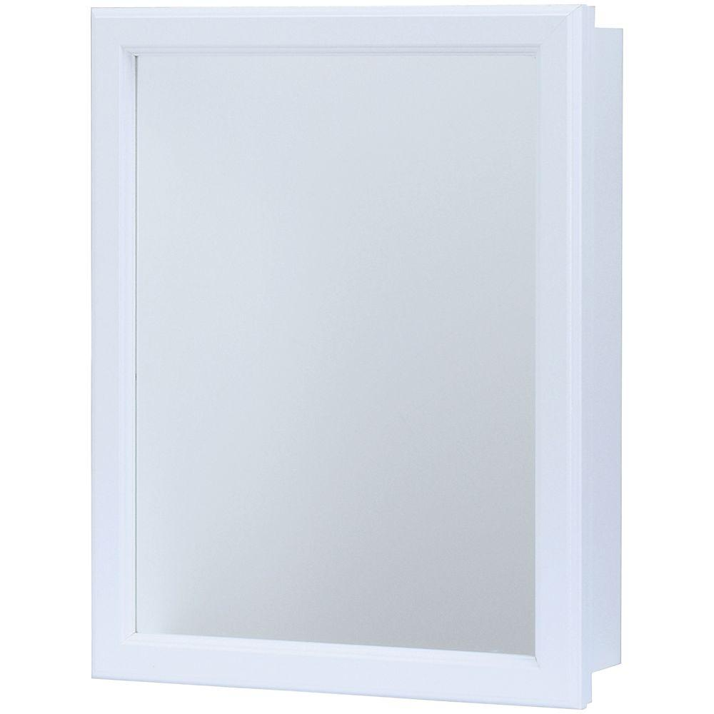 D Framed Recessed Or Surface Mount Bathroom Medicine Cabinet In White