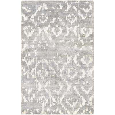 Sagano Bauble Dusty Blue-Ivory 10 ft. x 14 ft. Area Rug