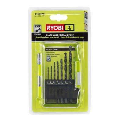 Black Oxide Drill Bit Set (7-Piece)